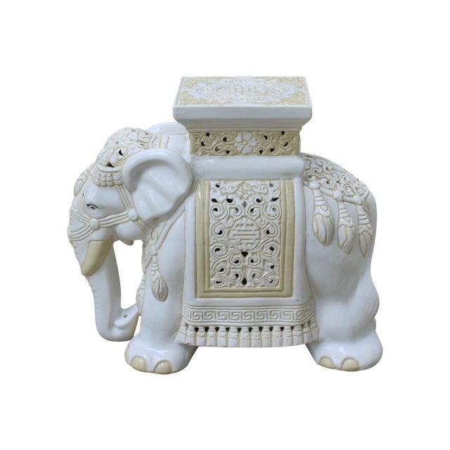 Mid-Century Elephant Garden Seat Stool - Image 1 of 10