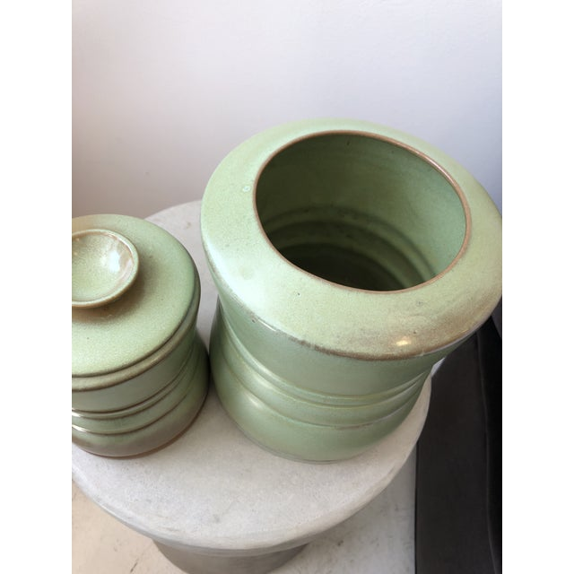 Vintage Frankoma Pottery Canisters A Pair Chairish
