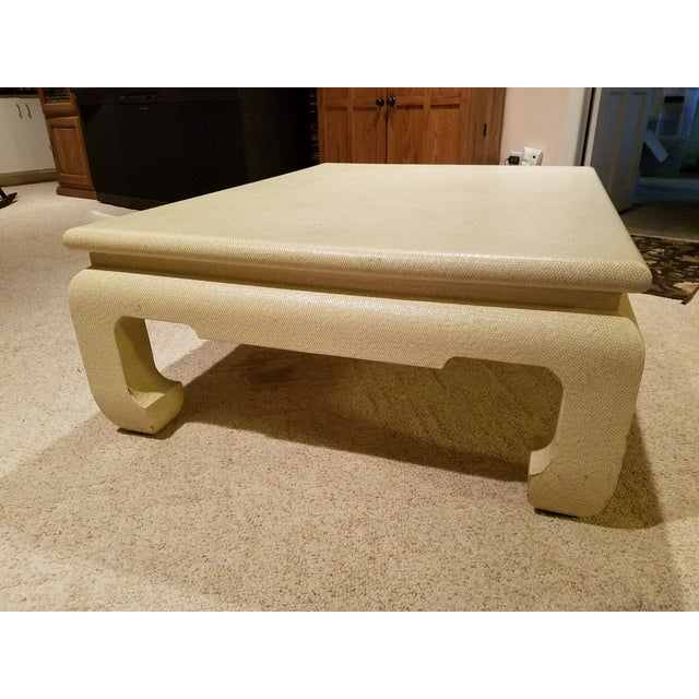 Custom Egg Shell Ming Style Rectangle Coffee Table - Image 4 of 7