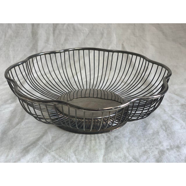 Mid-Century Modern 1960s Silver Fruit Bowl For Sale - Image 3 of 5