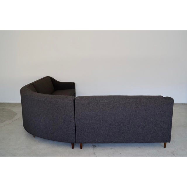 Mid-Century Modern Reupholstered 3-Piece Sectional Sofa For Sale - Image 4 of 13