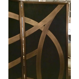 Currey & Co. Clara Black and Gold Folding Screen Preview