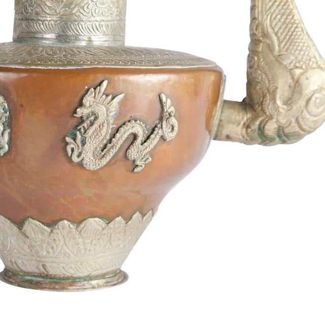 Vintage Silver And Copper Tea Pot - Image 5 of 7