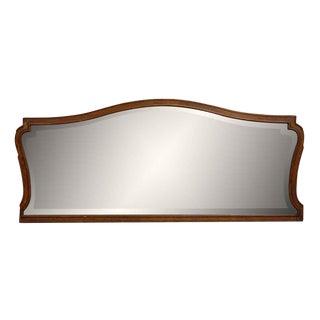 Dark Wood Framed Mantel Mirror