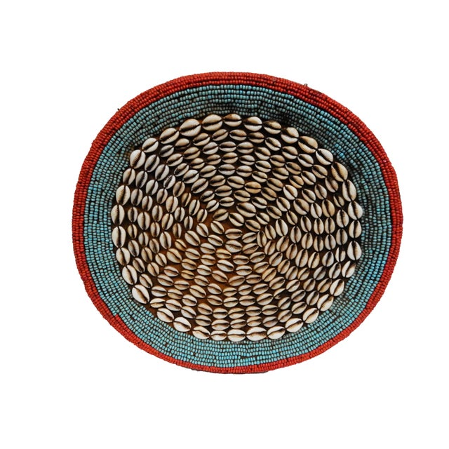 African Beaded Bamileke Elephant Stool - Image 9 of 10