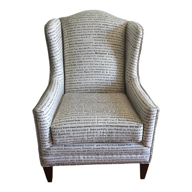 French Laundry Upholstered Chair - Image 1 of 7