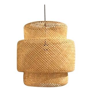 Modern Basket Weave Pendant/Chandelier For Sale