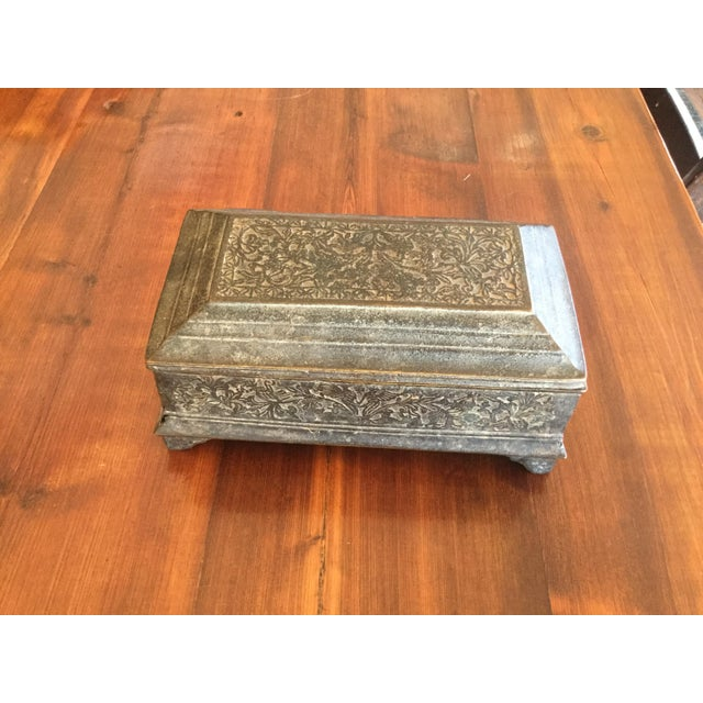 Brass Antique Brass Betal Nut Box From Madeira, Indonesia For Sale - Image 8 of 8