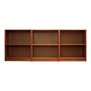 Danish Modern Teak Bookcases, Set of 3