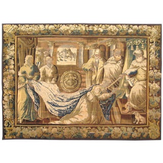 An Antique 18th Century Flemish Biblical Tapestry, Size 10'1 H X 8'3 W For Sale