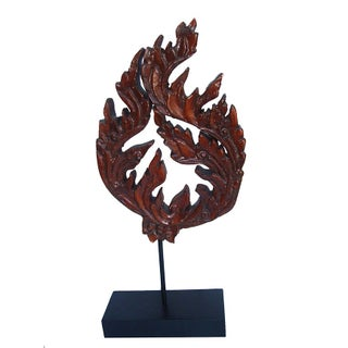 Large Stylized Asian Flame Sculpture Decor For Sale