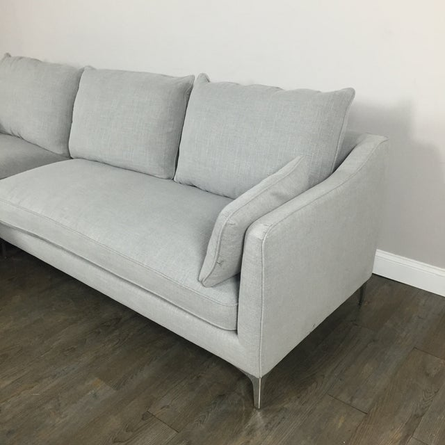 Modern Canvas Sectional Sofa - Image 5 of 8