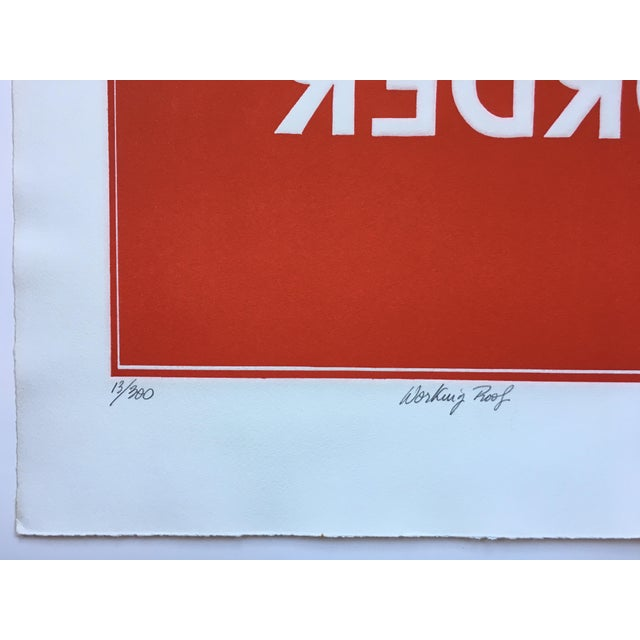 1970s Pop Art Text Print Signed by Jean Sariano For Sale - Image 4 of 11