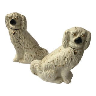 Ceramic Wade Staffordshire Dogs - A Pair