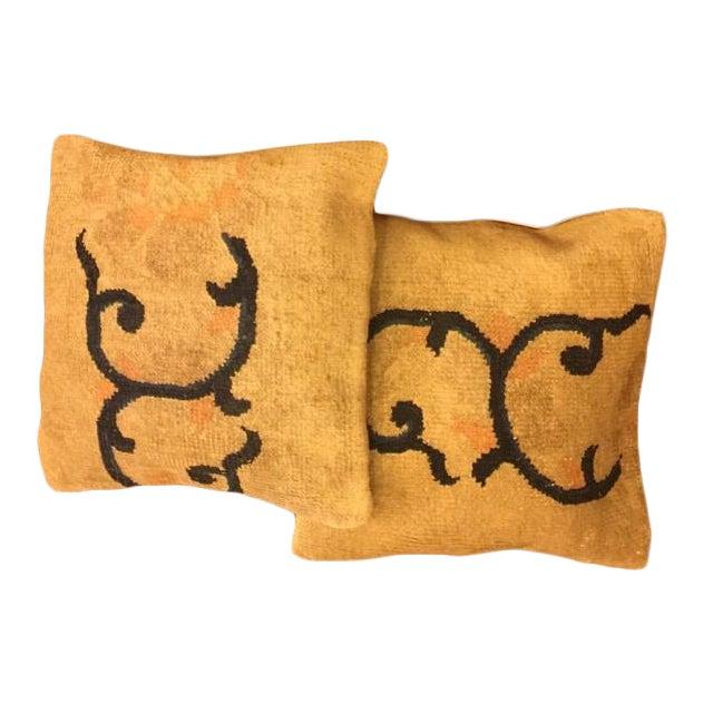 Handmade Anatolian Pillow Covers - Pair - Image 1 of 5