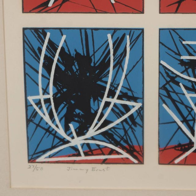 Abstract Mid-Century Modernist Screenprint by Jimmy Ernst Untitled For Sale - Image 3 of 11