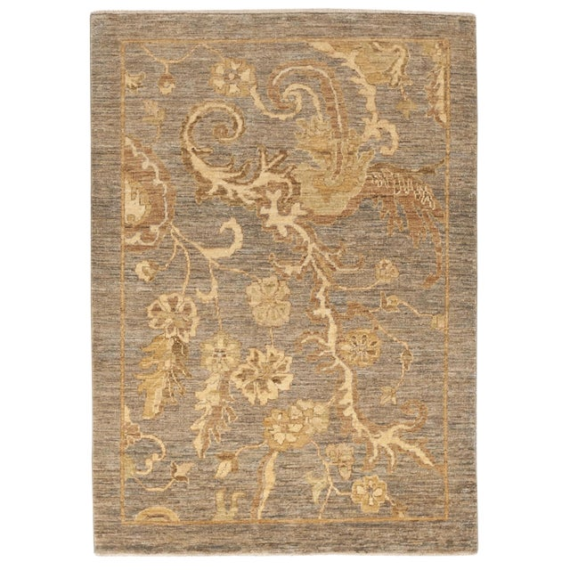 """Hand-Knotted Pakistan Rug - 3'5"""" x 4'10"""" - Image 1 of 10"""