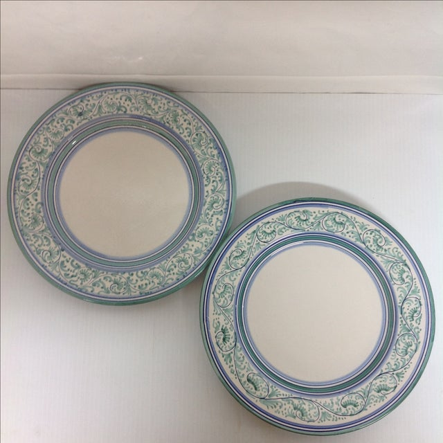Artistica Italy Ceramic Display Chargers - A Pair - Image 2 of 4