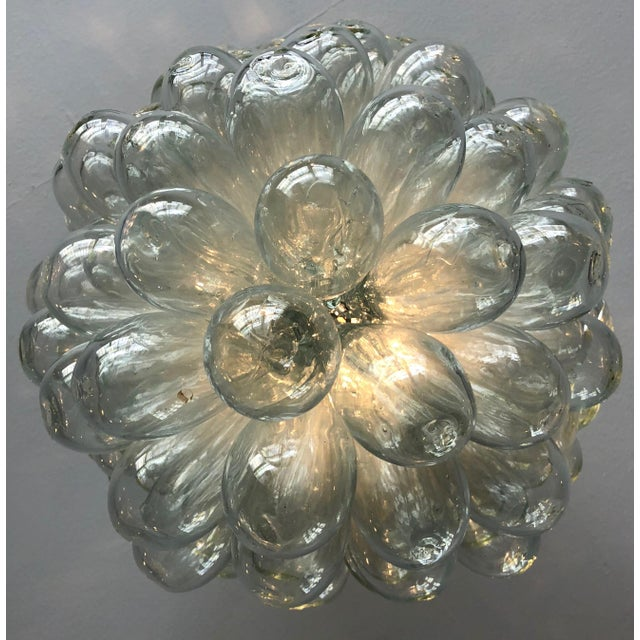 Glass Modern Clear Handblown Glass Bubble Light Fixture For Sale - Image 7 of 8