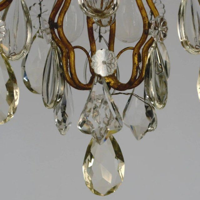 Continental Iron & Crystal Chandelier For Sale - Image 10 of 11