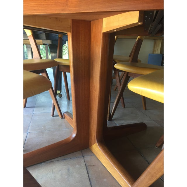 Mid-Century Modern Teak Dining Table/Chairs Set For Sale In San Francisco - Image 6 of 11