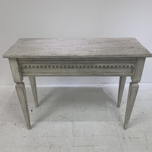 1990s Custom Console With Antique Pediment For Sale - Image 12 of 13