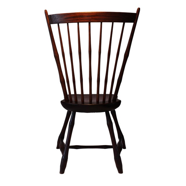 Primitive Country Sheraton Windsor Chair - Image 4 of 4