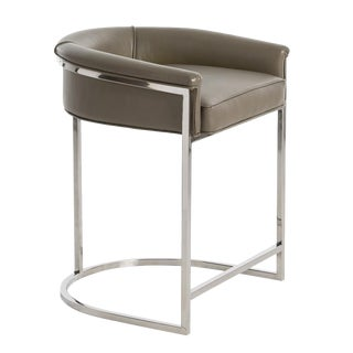 Arteriors Calvin Leather Counter Stool For Sale