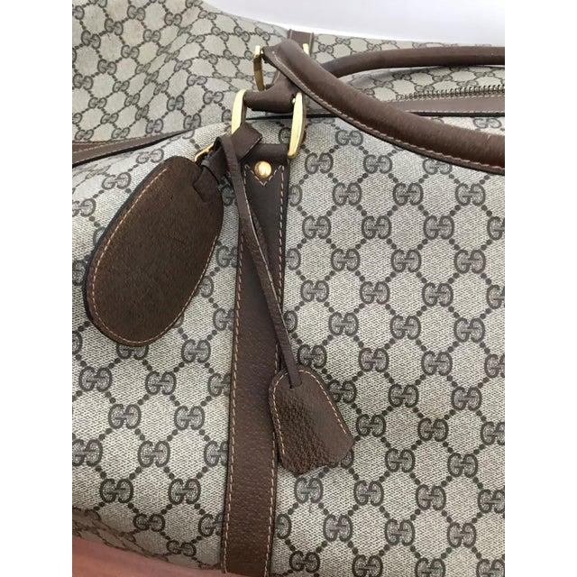 Art Deco Huge Vintage Gucci Monogram Duffel Bag For Sale - Image 3 of 12
