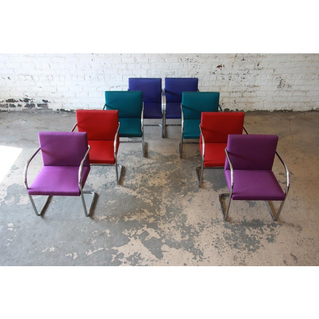 Mies Van Der Rohe for Knoll International Brno Chairs - a Pair For Sale - Image 10 of 11