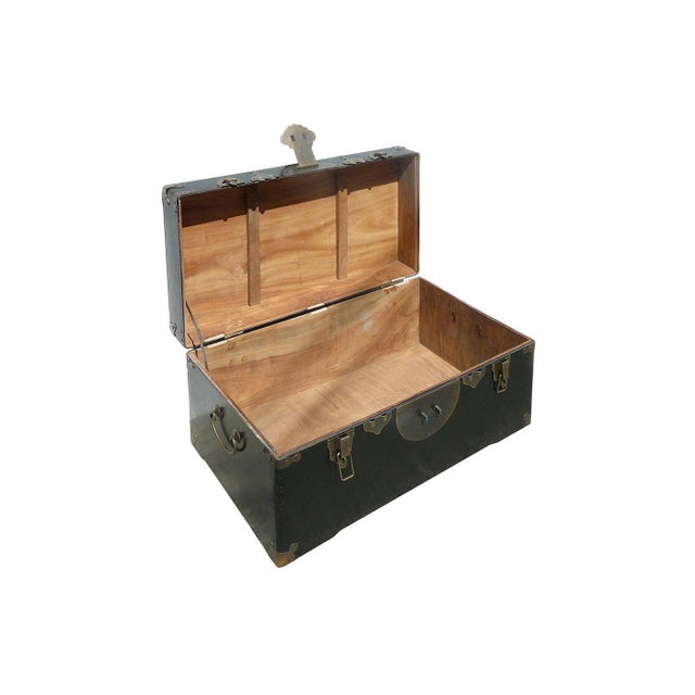 Camphor Wood Black Lacquer Trunk W/Bronze Hardware - Image 4 of 4