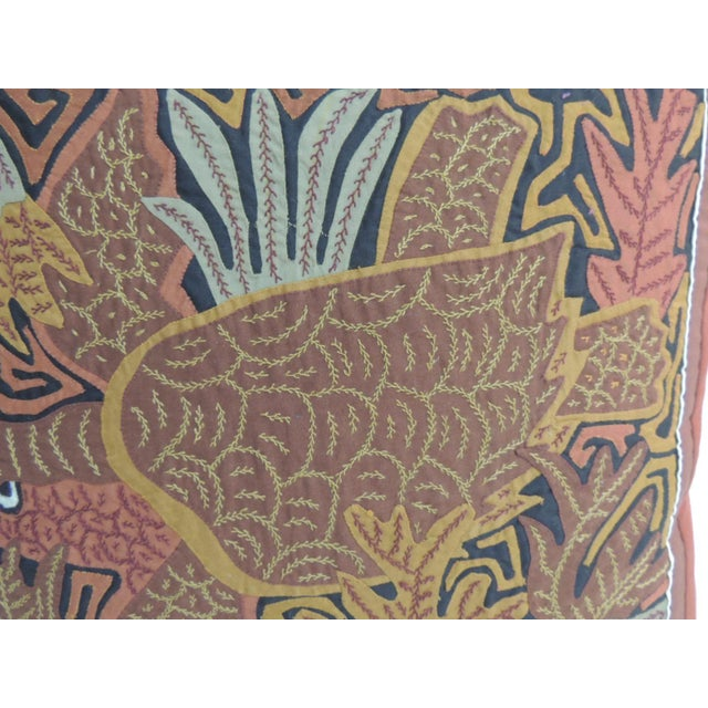 Tropical Sea Turtle Embroidery Decorative Pillow - Image 3 of 5
