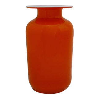 Scandinavian Orange Glass Vase
