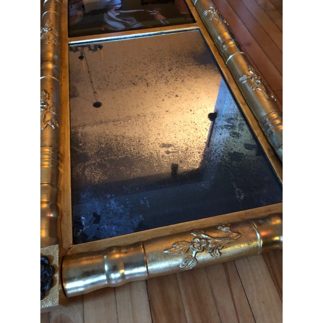 19th Century American Gilt Eglomise Original Wall Mirror For Sale - Image 12 of 13