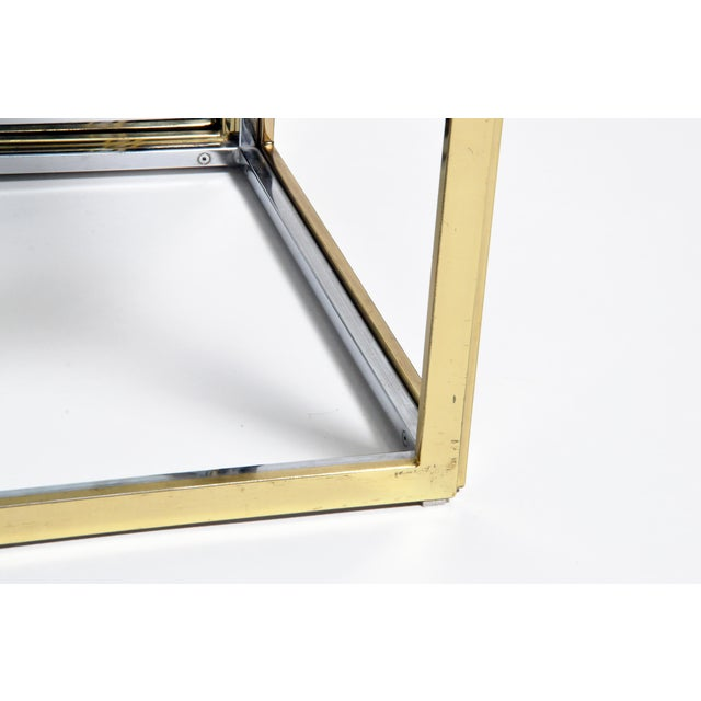1970s Five-Piece Brass Table Set With Glass Top For Sale - Image 10 of 13