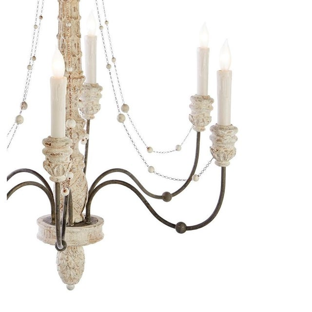A New Aidan Gray Lena White 6 Light Chandelier This Candle Style