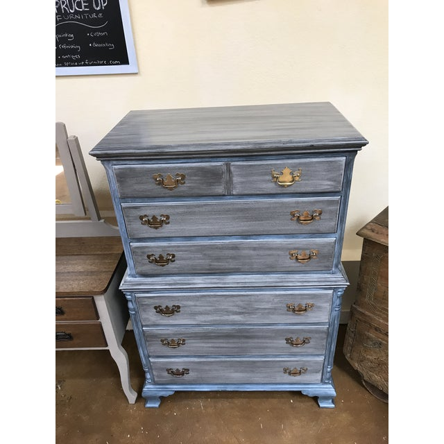 Blu & Gray Tall Boy Dresser - Image 6 of 9