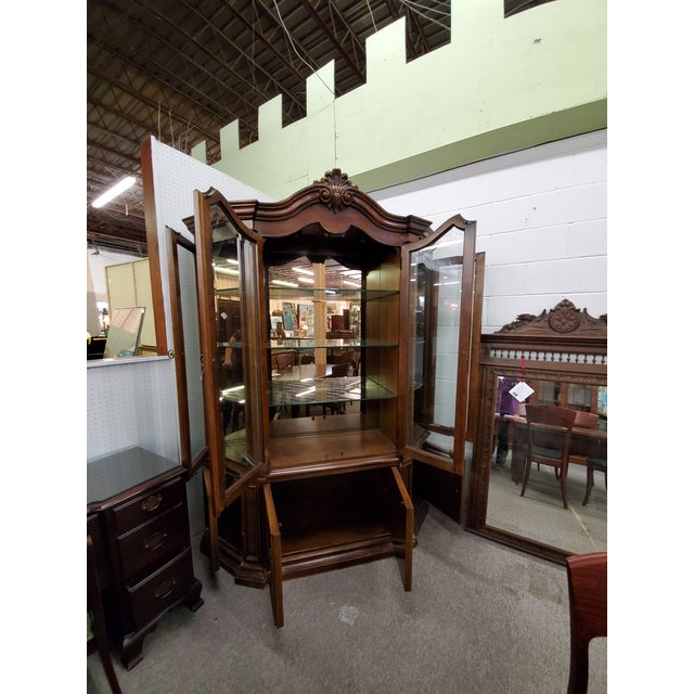 Traditional Vintage China Cabinet For Sale - Image 3 of 13