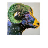 """Image of 1980s """"Bighorn Ram"""" Andy Warhol Foundation Offset Lithograph For Sale"""