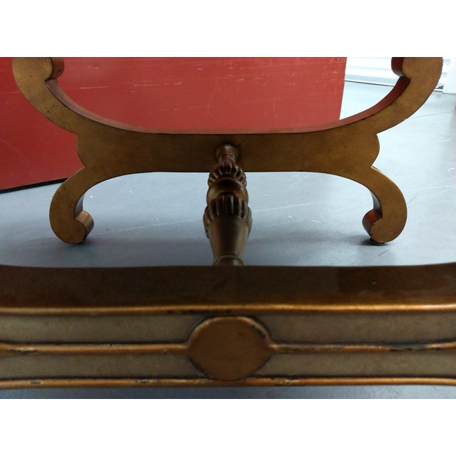 Roman Empire Renaissance Curule Fashioned Ottoman or Seating For Sale - Image 11 of 13