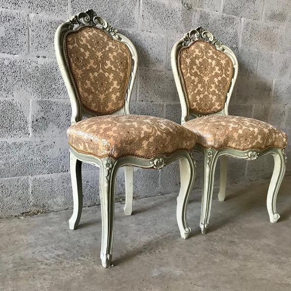 1900s Vintage Louis XVI Chairs- A Pair For Sale - Image 4 of 11