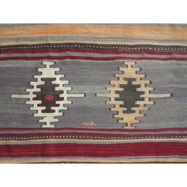Burgundy 1960s Vintage Turkish Kilim Rug For Sale - Image 8 of 12