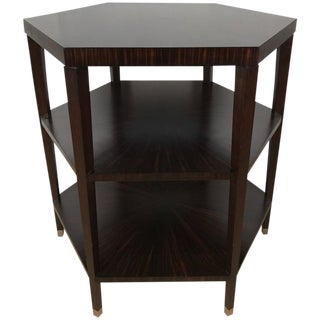 Ruhlmann Style Macassar Ebony Hexagon Occasional Table