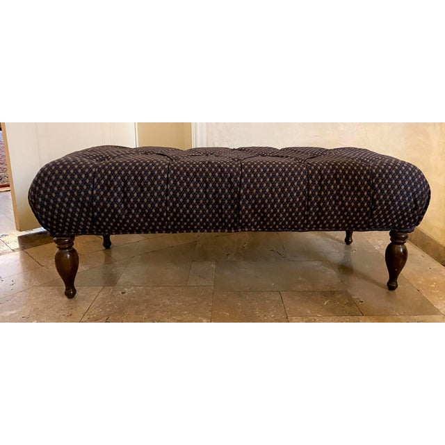 Wood Late 20th Century Lee Industries Ottoman For Sale - Image 7 of 7