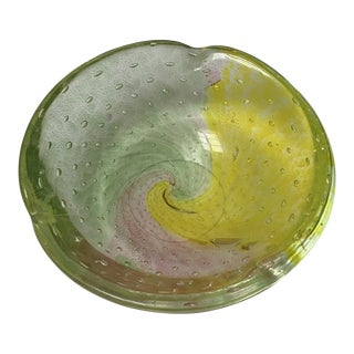Pastel Art Glass Bowl For Sale