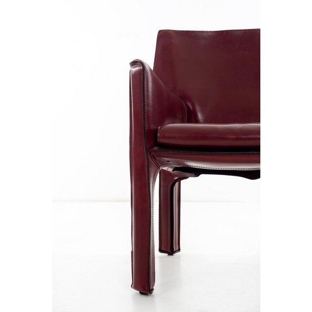 Mario Bellini Cab Lounge Chairs For Sale - Image 10 of 11