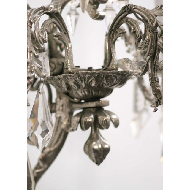 19th Century Nickel-Plated Bronze Rococo Dragon Wall Sconce Set of Four - Image 7 of 8