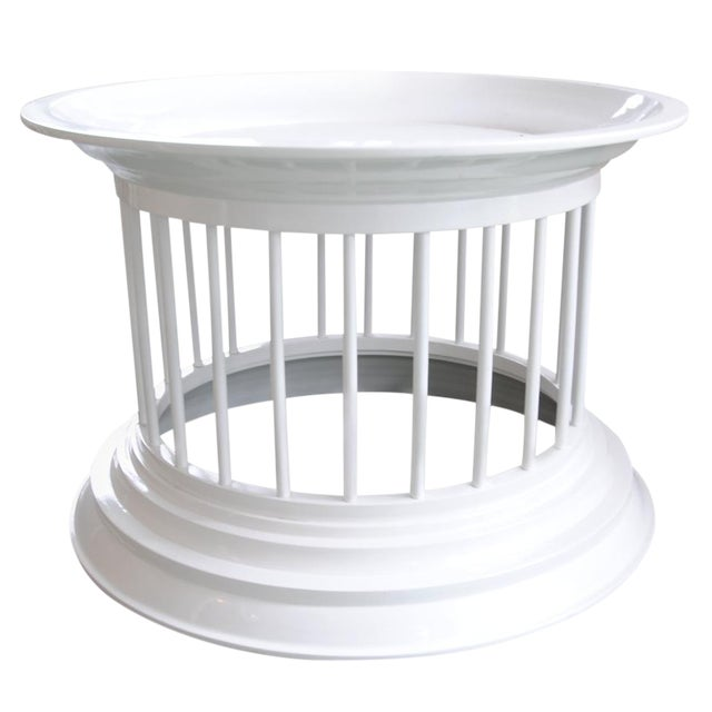 West Elm White Lacquered Side Table Chairish - West elm white side table