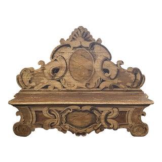 Late 19th Century Hand Painted Italian Cassapanca/Hall Bench For Sale