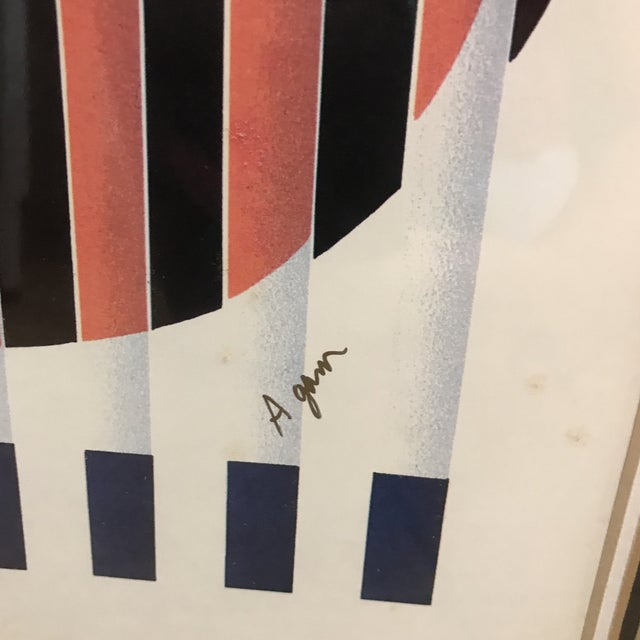 """Yaacov Agam """"Birth of a Flag"""" Lithograph Signed For Sale In West Palm - Image 6 of 8"""